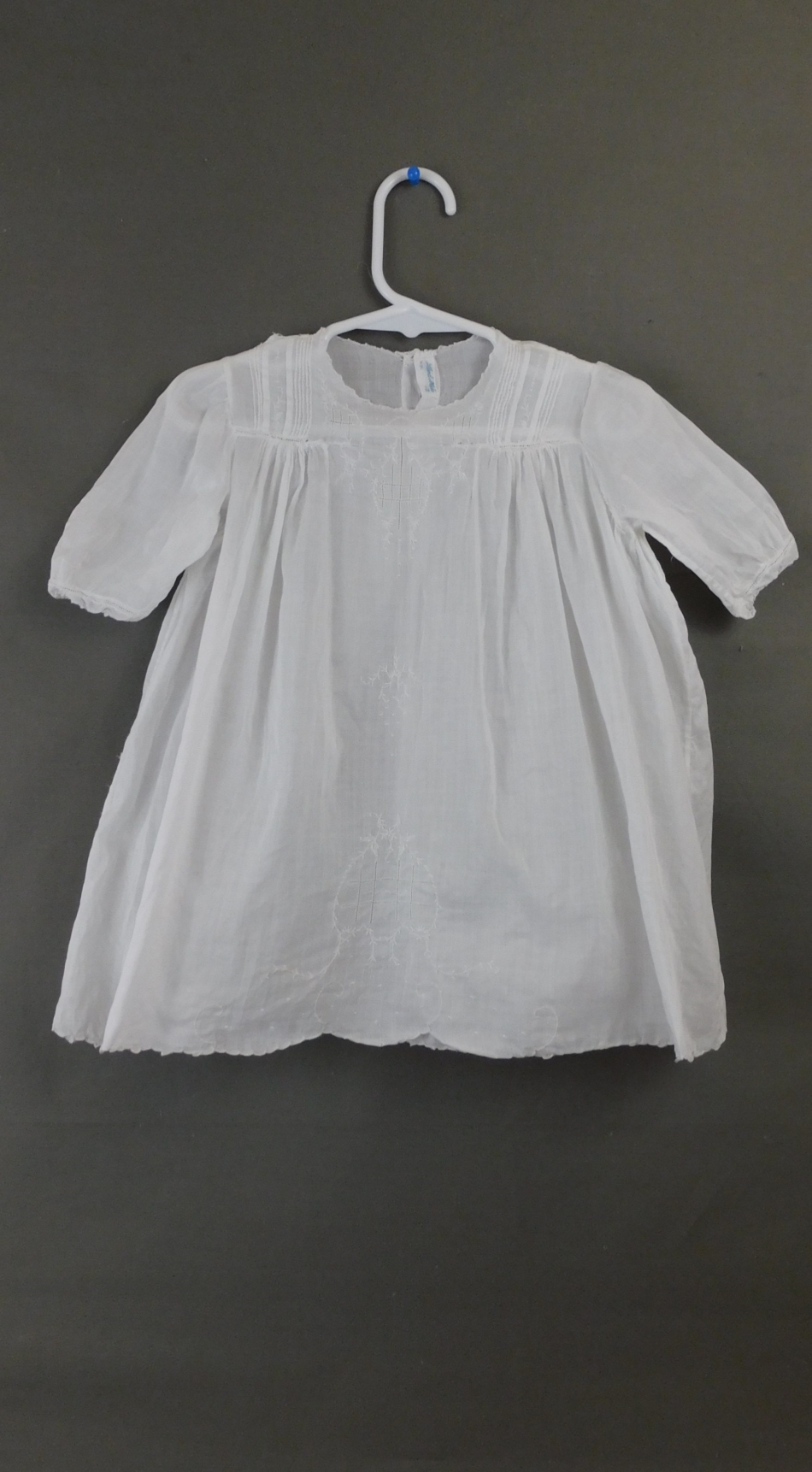 Vintage Little Girl 1940s Dress Embroidered Cotton Hand Sewn
