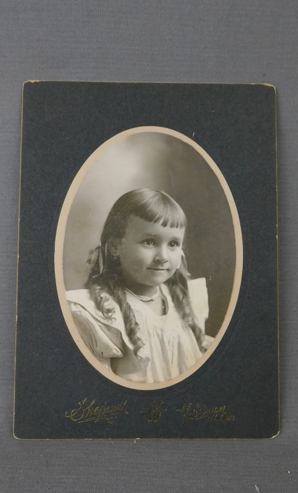 Vintage Victorian Girl Cabinet Card Photo, 1800s Photograph Curls & Bangs