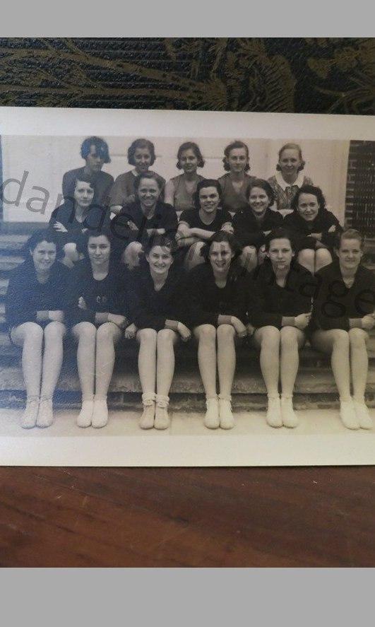 Vintage 1930s Women's Sports Team Original Photo, NJ, Atheletes