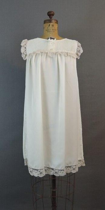 Vintage 1980s Barbizon Ivory Satin Nightgown, 36 bust