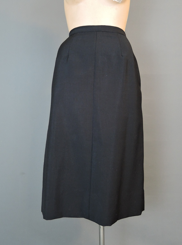 1950s Black Tailored Suit with Removable Cape, 36 bust, 27 waist