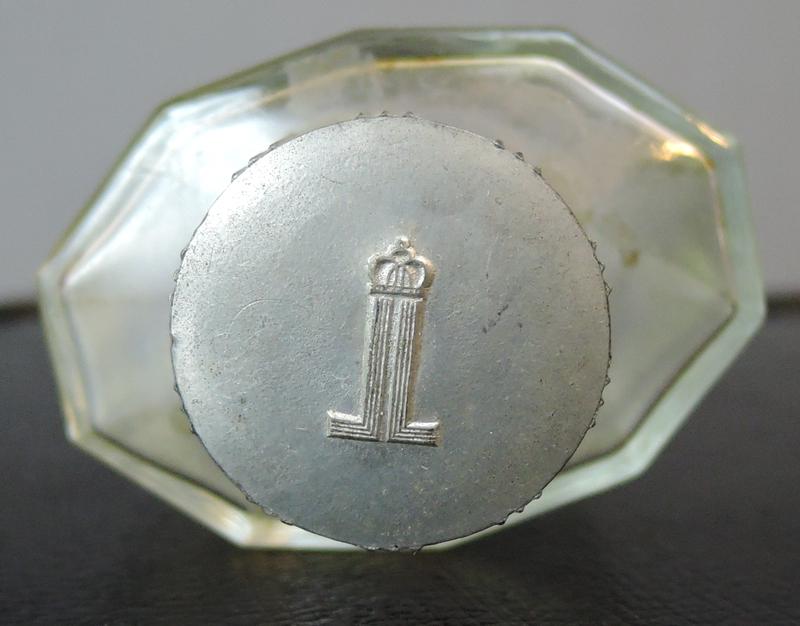 Vintage 1940s Perfume Bottle, Bouquet Lentheric Miracle 4oz