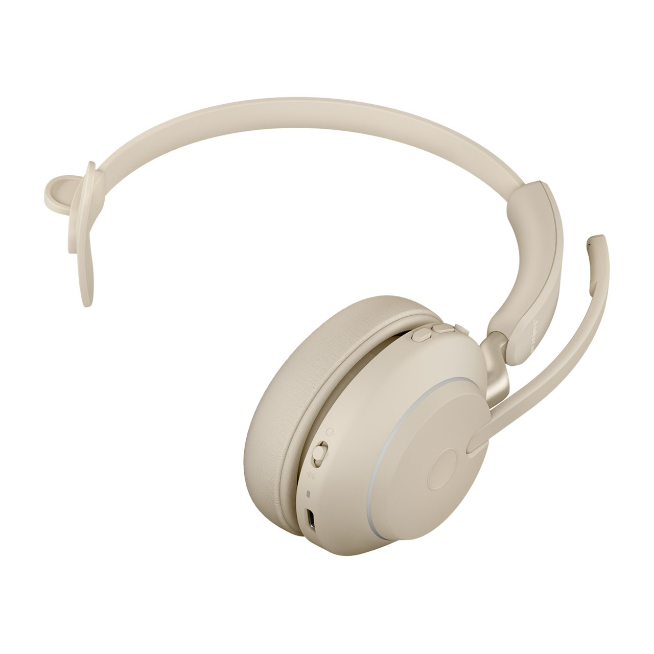 Jabra Singapore Jabra Evolve2 65 Ms Mono Headset With Link 380 Usb A Wireless Adapter And Charging Stand Beige 26599 899 888