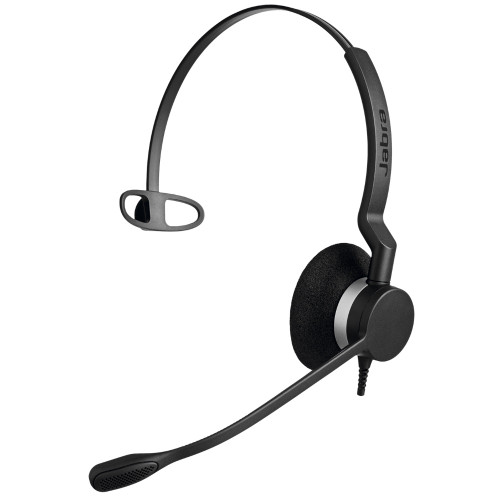 Jabra Biz 2300 MS Mono QD Corded Headset, Quick Disconnect