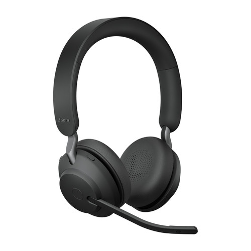 Jabra Evolve2 65 MS Stereo Office Headset, Link 380 USB-A Wireless Adapter (Black)