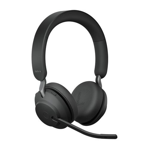 Jabra Evolve2 65 MS Stereo Office Headset, Link 380 USB-C Wireless Adapter (Black)
