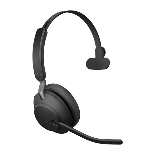 Jabra Evolve2 65 MS Mono Office Headset, Link 380 USB-A Wireless Adapter (Black)