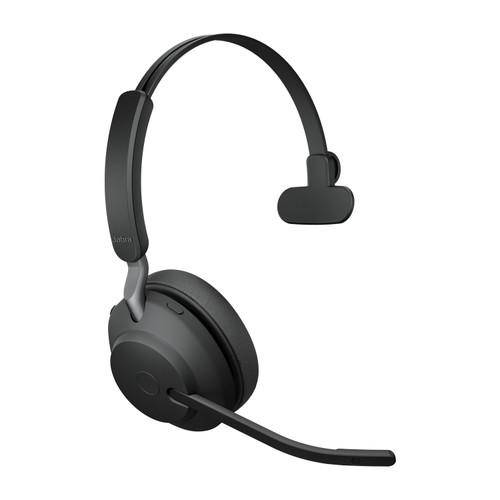 Jabra Evolve2 65 MS Mono Office Headset, Link 380 USB-C Wireless Adapter (Black)
