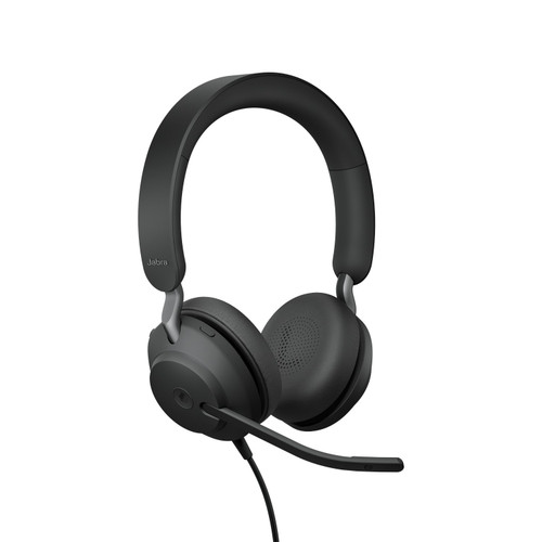 Jabra Evolve2 40 MS Stereo Office Headset, USB-A (Black)