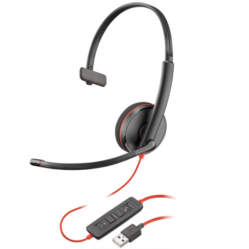 Poly Blackwire 3210 Mono USB-A Office Headset