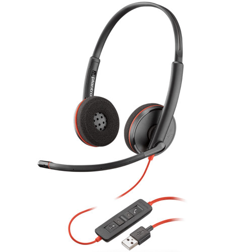 Poly Blackwire 3220 Stereo USB-A Office Headset