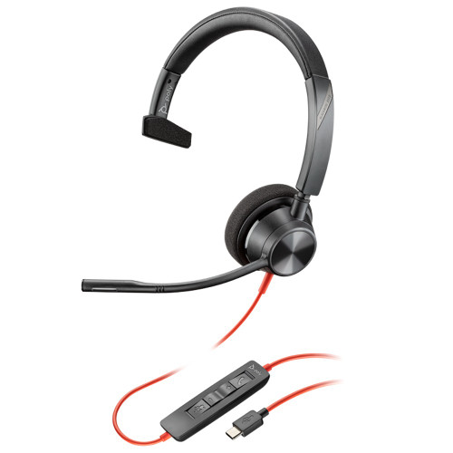 Poly Blackwire 3310-M Mono USB-C Microsoft Teams Office Headset