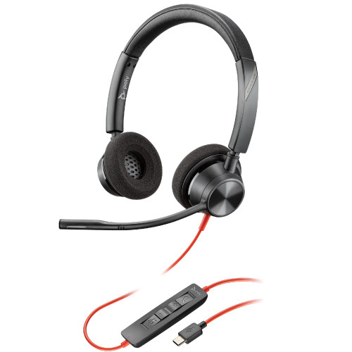Poly Blackwire 3320 UC Stereo USB-C Office Headset