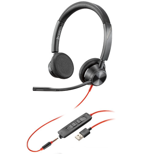 Poly Blackwire 3325 UC Stereo USB-A With 3.5mm  Office Headset