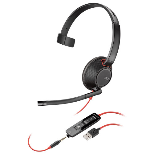 Poly Blackwire 5210 Mono Office Headset, USB-A, 3.5mm