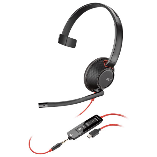 Poly Blackwire 5210 Mono Office Headset, USB-C, 3.5mm