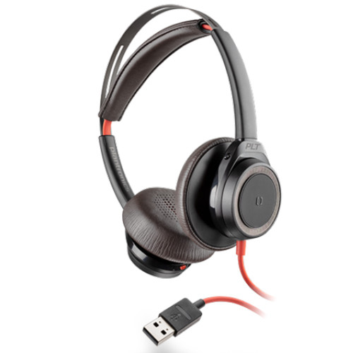 Poly Blackwire 7225 Boomless Active Noise Cancelling USB-A Office Headset (Black)