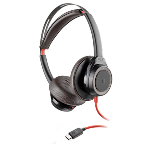Poly Blackwire 7225 Boomless Active Noise Cancelling USB-C Office Headset (Black)
