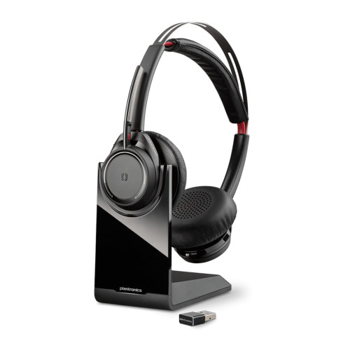 Poly Voyager Focus UC B825 Stereo Bluetooth Headset USB-A, Standard, With Stand