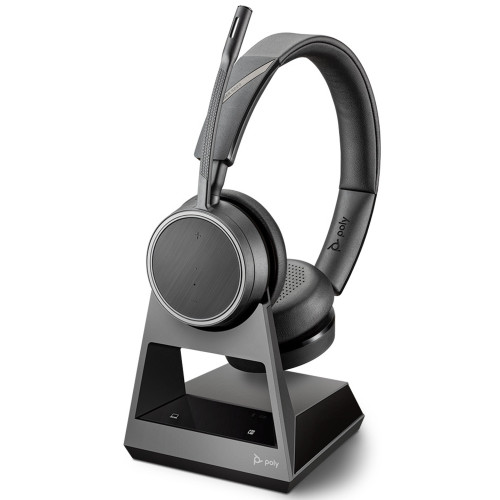 Poly Voyager 4220 UC Stereo Wireless Headset, 2 Way Base, Standard, USB-A