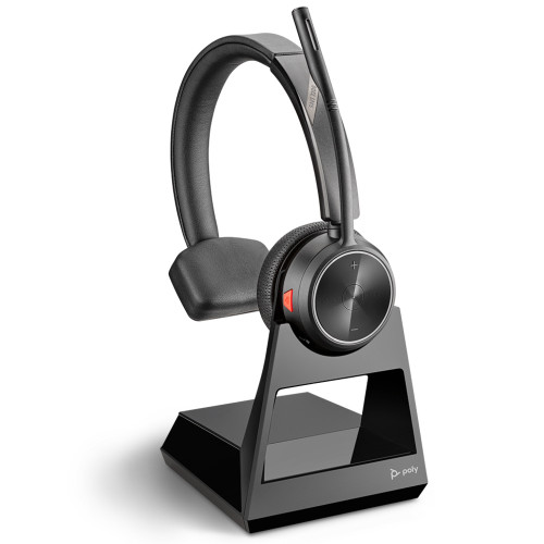 Poly Savi 7210 Mono Wireless DECT Headset System For Desk Phones, With Charging Base