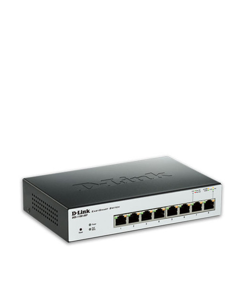 D-Link DGS-1100-08P 8-Port Layer 2 Lite Smart Managed Gigabit PoE Switch
