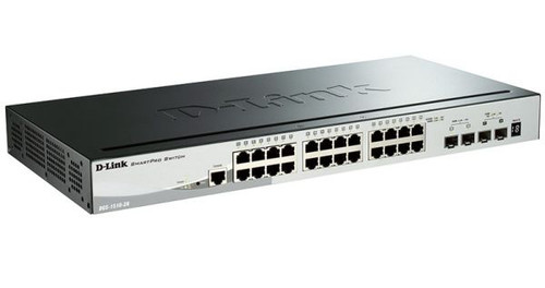 D-Link DGS-1510-28 28-Port Gigabit Stackable Smart Managed Switch with 10G Uplinks