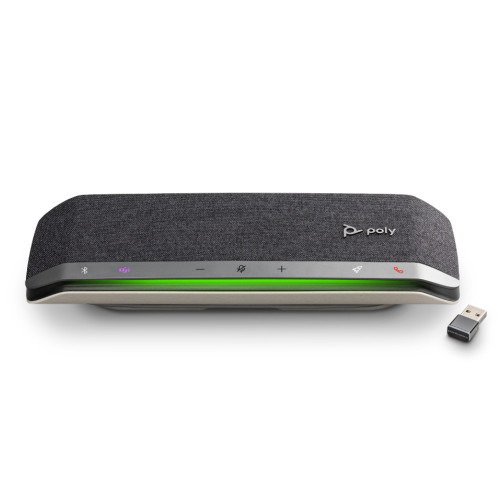 Poly Sync 40+ Smart Conference Speakerphone, MS Teams, Combined USB-A and USB-C Cable, With BT600 Wireless Adapter, USB-A