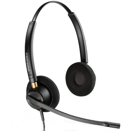Poly EncorePro 520 QD Stereo Noise Cancelling Headset, Quick Disconnect