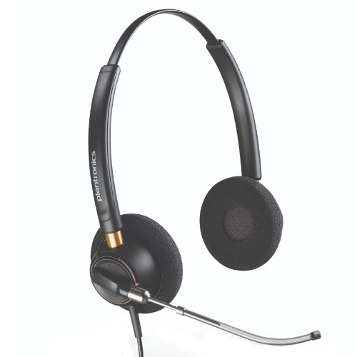 Poly EncorePro 520 QD Stereo Voice Tube Headset, Quick Disconnect