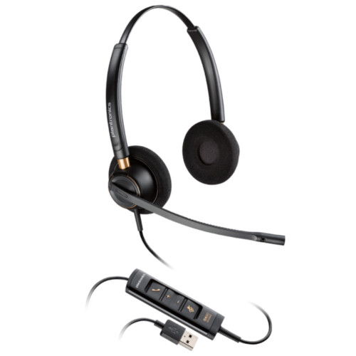 Poly EncorePro 525 USB Stereo Noise Cancelling Headset, USB-A