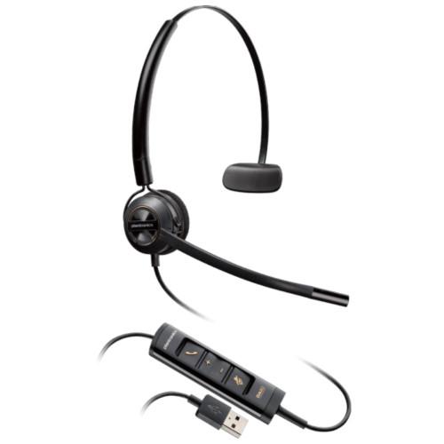 Poly EncorePro 545 USB Convertible Headset, USB-A