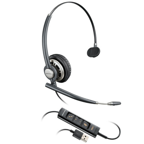 Poly EncorePro 715 USB Mono Noise Cancelling Headset, USB-A