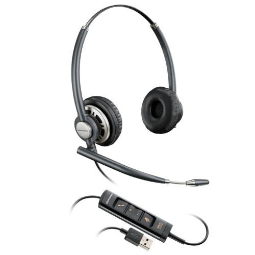 Poly EncorePro 725 USB Stereo Noise Cancelling Headset, USB-A