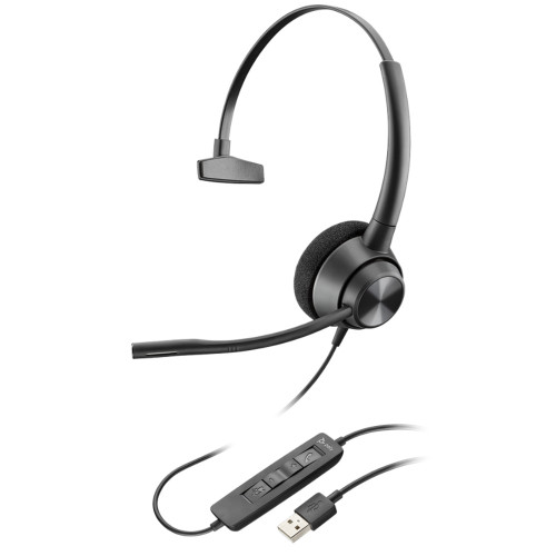 Poly EncorePro 310 USB Mono Headset, USB-A