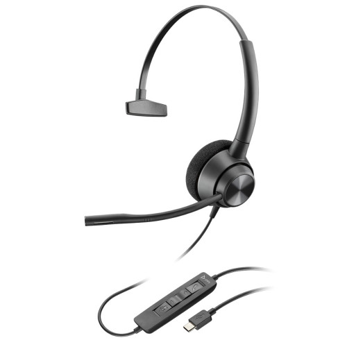 Poly EncorePro 310 USB Mono Headset, USB-C