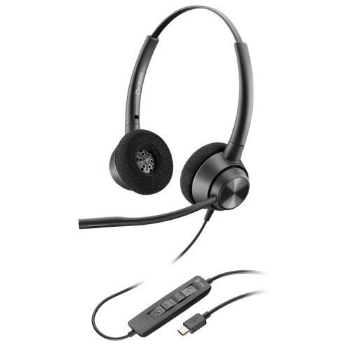 Poly EncorePro 320 USB Stereo Headset, USB-C