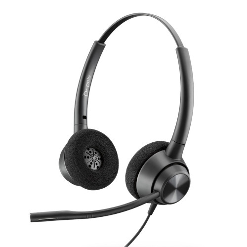 Poly EncorePro 320 QD Stereo Headset, Quick Disconnect