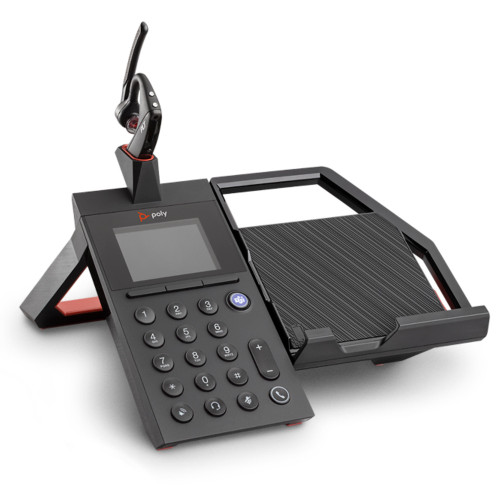 Poly Elara 60 W Mobile Phone Station For Voyager 5200 Headsets, With Voyager 5200 Headset