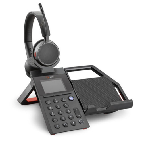 Poly Elara 60 WS Mobile Phone Station With Speaker For Voyager 4200 Headsets, With Voyager 4220 Headset