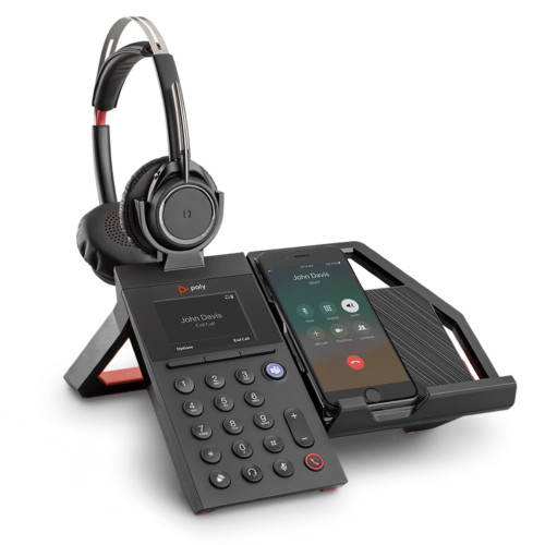 Poly Elara 60 WS Mobile Phone Station With Speaker For Voyager Focus Headsets, With Voyager Focus Headset
