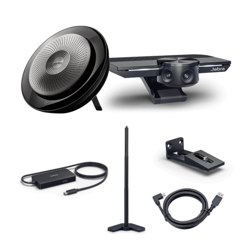 Jabra Panacast Video Conferencing Meeting Room Bundle, Optimized For UC and Zoom