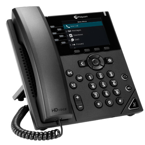 Poly VVX 350 6-Line Desktop Business IP Phone With HD Voice