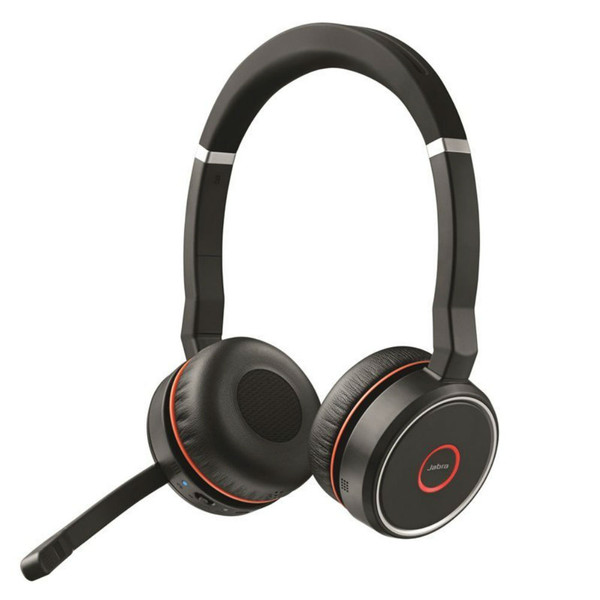 Jabra Evolve 75 MS Wireless Noise Cancelling Headset With USB Adapter