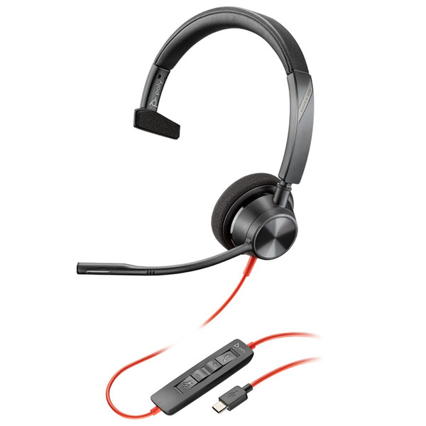 Poly Blackwire 3310 UC Mono USB-C Office Headset