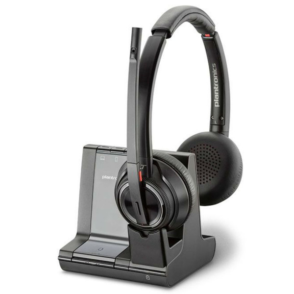 Poly Savi 8220 Stereo Wireless DECT Headset With ANC & Charging Base, Standard