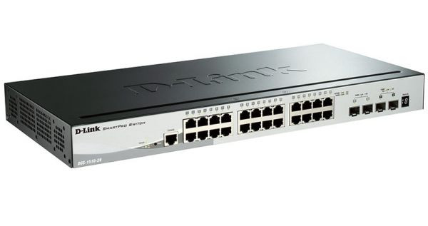 D-Link DGS-1510-28 28-Port Gigabit Stackable Smart Managed Switch with 10G Uplinks