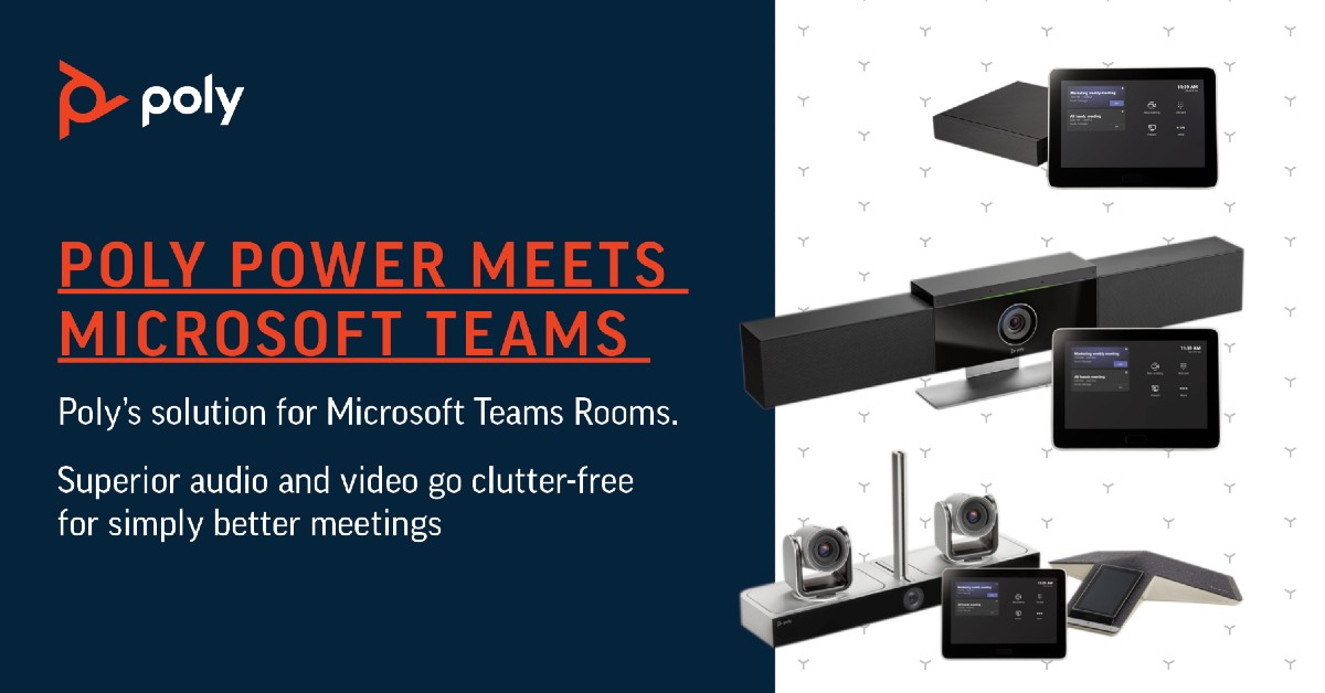 Poly G85-T and G40-T Video Conferencing Systems For Microsoft Teams