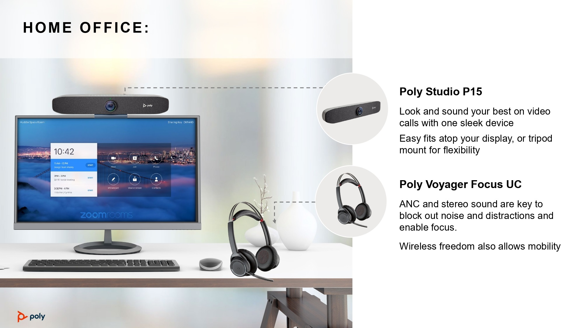 Home Office Video Conferencing Solutions From Jabra, Poly, Polycom and Plantronics | LIONWARE