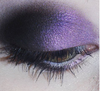 Creature of the Night - purple eyeshadow with red duochrome and gold sparks